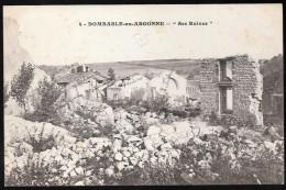 CPA CLICHE PAS COURANT DOMBASLE EN ARGONNE N°4 LES RUINES 55 MEUSE - Autres Communes