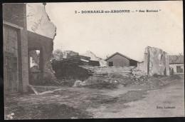 CPA CLICHE PAS COURANT DOMBASLE EN ARGONNE N°3 LES RUINES 55 MEUSE - Autres Communes
