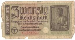 20 Reichsmark 1940 (Germany, Deutschland, Allemagne, Deutsches, Allemand, Third Reich) - [ 4] 1933-1945 : Third Reich