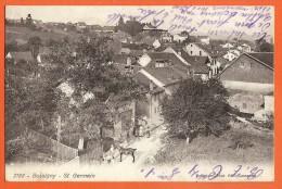 XAB-28 Bussigny Quartier De La Rue St-Germain, Cheval, Animé. Circulé Avec Cachets Militaires Bussigny Et Bex 1912 - VD Vaud