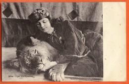 XAC-06 Miss Olga Jeannet, Genevoise D'origine, Dompteuse. Lion. Carte-Photo. Non Circulé - GE Ginevra