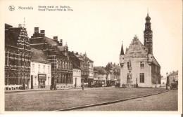 HERENTHALS (2200) : Groote Markt En Stadhuis. CPSM. - Herentals