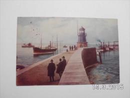 Emden. - Aussenhafen, Mole Mit Leuchtturm. (29 - 6 - 1910) - Emden