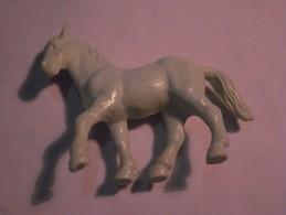 1 FIGURINE FIGURE DOLL PUPPET DUMMY TOY IMAGE POUPÉE - MONOCHROME HORSE BULLY 86 WEST GERMANY - Horses