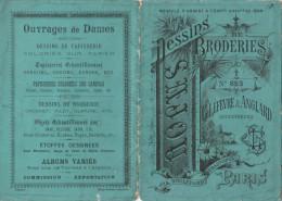 -  Très Beau Petit Album N°653  Pour Modèles De Broderie De Lettres Sur Tissus - 013 - Habits & Linge D'époque