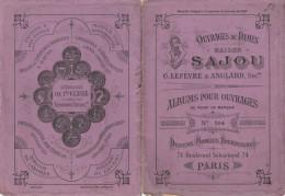 -  Très Beau Petit Album N°204  Pour Modèles De Broderie De Lettres Sur Tissus - 024 - Habits & Linge D'époque