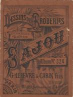 -  Très Bel Album N°324  Pour Modèles De Broderie De Lettres Sur Tissus - 035 - Habits & Linge D'époque
