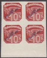 SLOVAKIA, 1939 LAKE 10h O/P  BLOCK 4 - Ungebraucht
