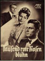 """Das Neue Film-Programm Von Ca. 1952  -  """"Tausend Rote Rosen Blühn""""  -  Mit Rudolf Prack , O.W. Fischer - Magazines"""