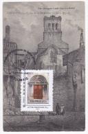 Promophil 2015 à Tournus (71) 7 Et 8 Mars 2015, Timbre@moi Porche Eglise De La Madeleine Sur CP De Son Abside - Cartoline Maximum