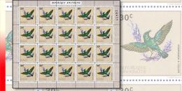 Rwanda 0465**  30c Oiseaux souimanga � collier -  Feuille / Sheet de 20 MNH