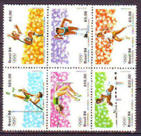 BRAZIL - BRASIL - SPORT - OLYMPIC - High Jump - long jump - MNH ** - 1984