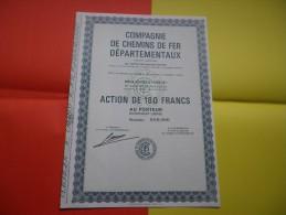 COMPAGNIE DE CHEMINS DE FER DEPARTEMENTAUX - Acciones & Títulos