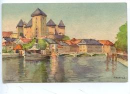 Annecy : Aquarelle F. Portier (n°296/3) Arts Tableaux - Annecy
