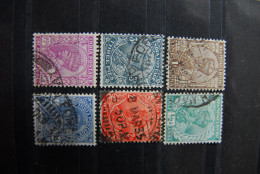 B016 - INDIA INDIEN 6 Verschiedene Gestempelte Marken Um 1920/30 König Schöne Stempel - Ohne Zuordnung