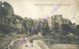 07. Chateau De SALAVAS Et Le Vieux SALAVAS . CPA Animée . - Sonstige Gemeinden