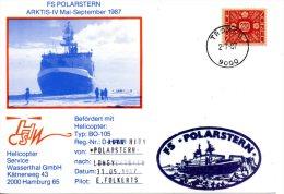 NORVEGE. Carte Ayant Circulé En 1987. FS Polarstern Arktis 1987. - Navi Polari E Rompighiaccio