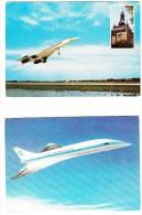 4 Postcards : CONCORDE 'Avion Super-sonique' - France (4 Scans) - 1946-....: Moderne