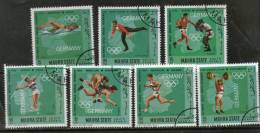South Arabia - Mahara State Germany Olympic Games Gold Medal Winners 7v Set Cancelled # 5660A - Summer 1968: Mexico City