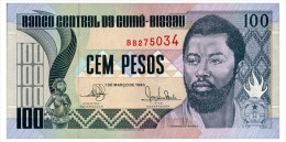 GUINEA-BISSAU 100 PESOS 1990 Pick 11 Unc - Guinea-Bissau