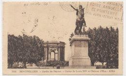 MONTPELLIER - Jardin Du Peyrou (Flamme Foire D' AVIGNON 1931 (75951) - Montpellier