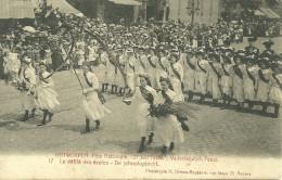 ANVERS ANTWERPEN FETE NATIONALE JUILLET 1909 VADERLANDSCH FEEST DEFILE DES ECOLES DE SCHOOLOPTOCHT BELGIQUE - Antwerpen
