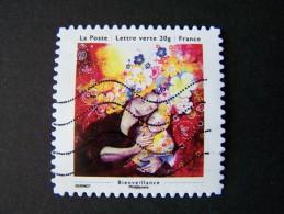 OBLITERE ANNEE 2013 N°911 BIENVEILLANCE TIMBRE DU CARNET LES PETITS BONHEURS  AUTOCOLLANT ADHESIF - France
