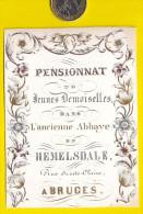 Ca1845 PENSIONNAT DE DEMOISELLES ABBAYE HEMELSDALE BRUGGE KOSTSCHOOL Ecole School CARTE PORCELAINE PORSELEINKAART P254 - Diploma & School Reports