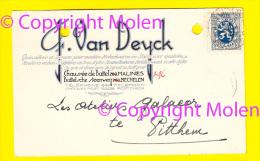 G VAN DEYCK Battelsche Stwg MECHELEN FABRIQUE USINE Pub METAAL-WAREN STOFFEN VOOR MEUBELS Briefkaart Galacor Pittem 3280 - Malines
