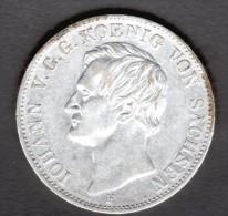 ALLEMAGNE, SAXE, SACHSEN, 1 THALER 1856 F, JOHANN - [ 1] …-1871 : German States