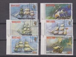 Belize 1982 Sailing Ships 6v Used Cto  (20293) - Belize (1973-...)