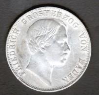 ALLEMAGNE, BADEN,  1 THALER 1859, FRIEDRICH - [ 1] …-1871 : Etats Allemands