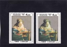 N°2231 Variété : Visage Rose Et Visage Jaune-vert, Timbres Neufs N**, TB, Voir Photo - Varietà E Curiosità