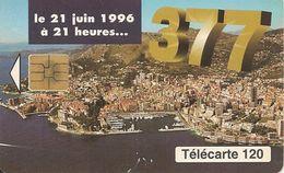 2-CARTES-PUBLIC-MONACO-120U-MF42/42a-SO3-06/96-CHANGEMENT N°-JG Et JD-UTILISE-TBE - Monaco