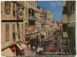Greeting From Gibraltar  Main Street  Pub Singer Kodak Leica Nice Cars Fifties - Gibraltar