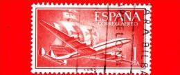 SPAGNA - Usato - 1955 - Super Costellazione E Nave Santa Maria - Plane And Caravel - 1 - Usati