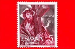 SPAGNA - Usato - 1962 - Misteri Del Rosario - Salita Di Gesù Sul Calvario Carico Della Croce, Di El Greco - 5 - 1931-Heute: 2. Rep. - ... Juan Carlos I