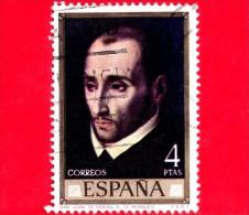SPAGNA - Usato - 1970 - San Juan De Ribera  - Luis De Morales, Pittore - 4 - 1931-Heute: 2. Rep. - ... Juan Carlos I