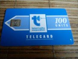 Phonecard Malta 100 Units Used - Malte
