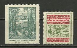 TSCHECHOSLOWAKEI 1909 & 1912 Vignetten Reklamemarken MNH/MH - Tchécoslovaquie