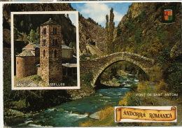Valls D´Andorra 4   Sant Joan De Casselles I Pont De Sant Antoni   Timbrée 1976 - Andorre
