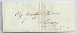 1836 Lettre Locale De Cairo - Sans Marques - Préphilatélie