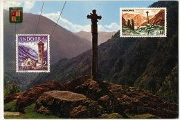 Valls D´Andorra 4723 Cruz Gotica De Meritxell   Timbrée 1972 - Andorra