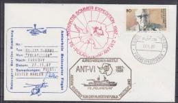 British Antarctic Territory 1987 Heli Flight (27.11.87) From Polarstern To Faraday Cover Si Pilot (20314) - Brits Antarctisch Territorium  (BAT)
