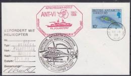British Antarctic Territory 1988 Heli Flight (22.1.88) From Polarstern To  Halley Cover Si Pilot (20315) - Brits Antarctisch Territorium  (BAT)