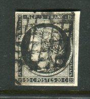 Superbe N° 3a Noir Sur Blanc - 1849-1850 Ceres