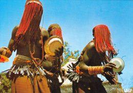 1 AK  Tschad Tchad * Ritualtanz beschnittener M�dchen * Danse rituelle des filles excis�es *