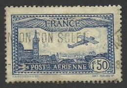 France, 1.50 F. 1931, Sc # C6, Mi # 255, Used. - Airmail