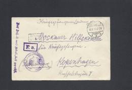 Cover. POW.   Offizier Gefangenen Lager. Gütersloh. Sent To Denmark 1917.  S-1743 - Germany