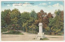 Scene In Grant Park, Showing Grant Monument, Atlanta, Ga. - Atlanta